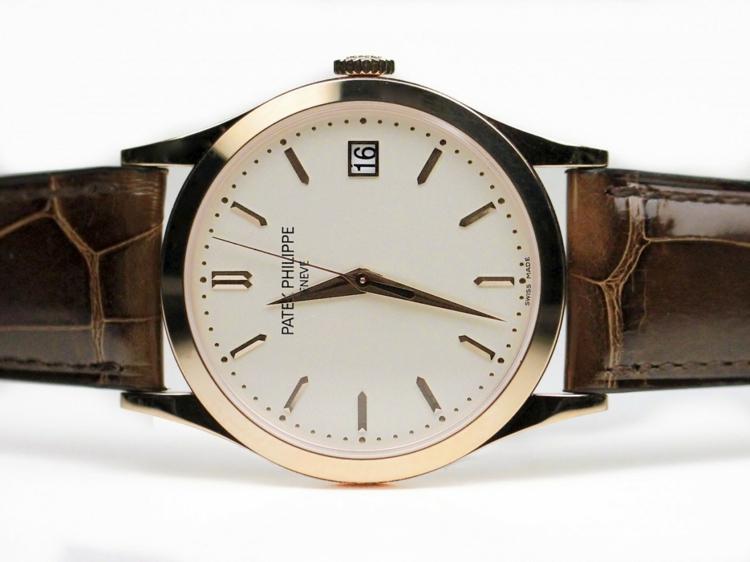 Patek Philippe Armbanduhren gute Uhrenmarken Lederband