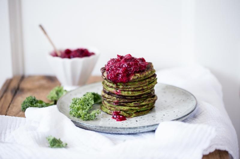 Pfannkuchenteig Rezept Pfankuchen mit Grünkohl und Marmalede