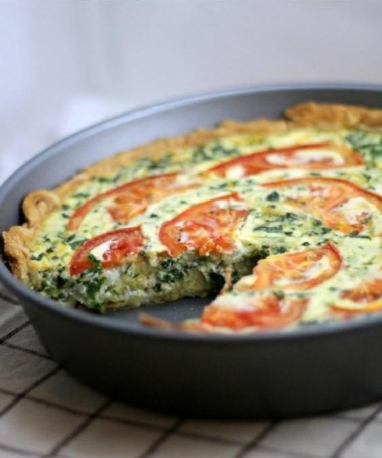 Quiche Rezept Zutaten Quiche Teig Tomaten Käse Spinat Quiche vegetarisch