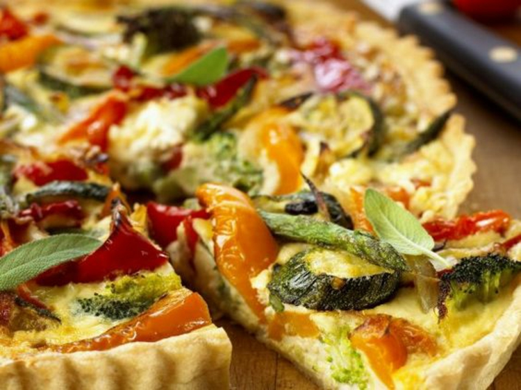 Rezept Quiche Teig mit Paprika Zucchini Quiche Rezeptideen