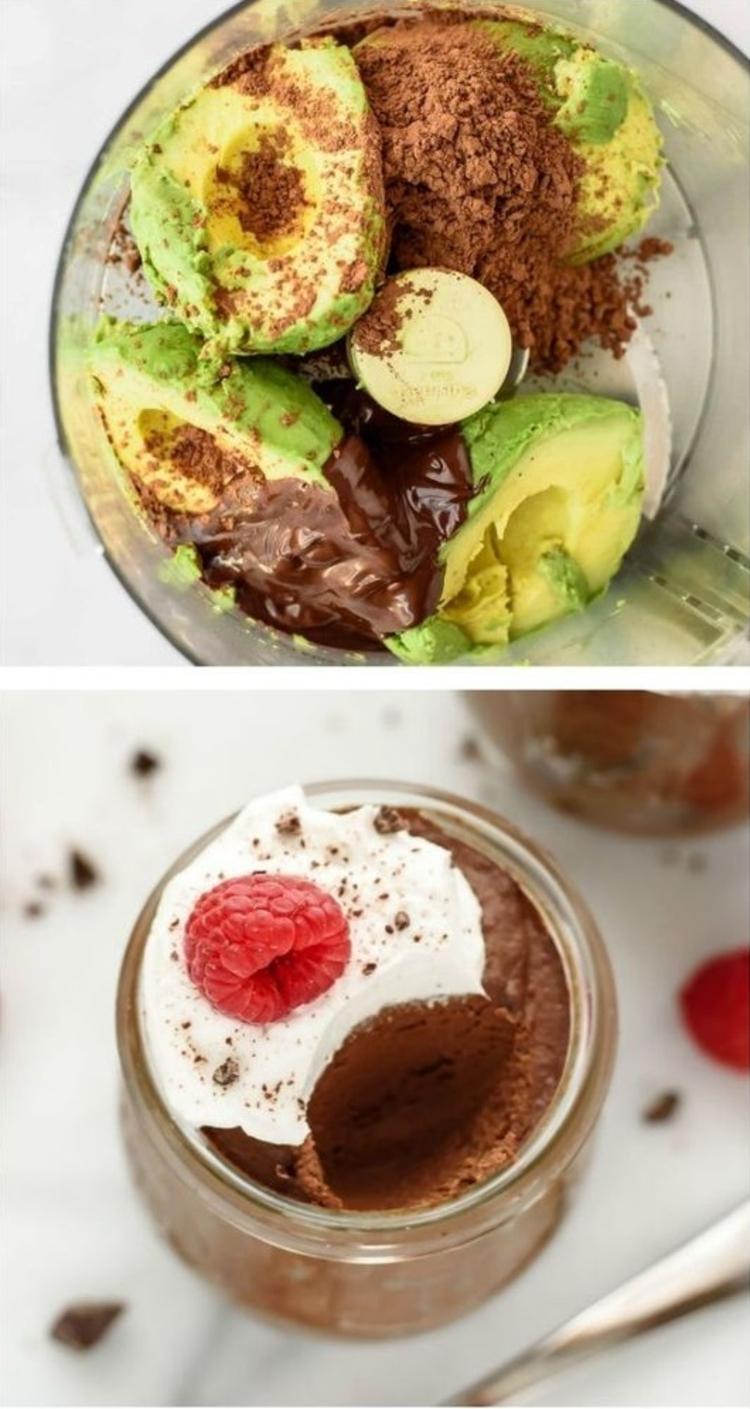 Rezepte mit Avocado Nachspeise mit Avocado gesund abnehmen