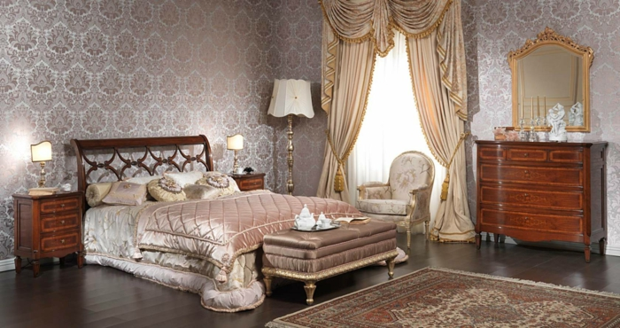 Schlafzimmer Ideen im viktorianischen Stil Retro Möbel Holz