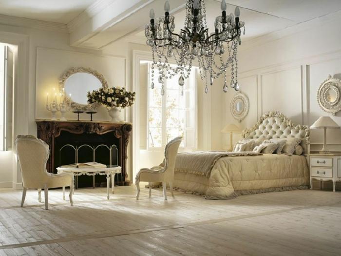 Schlafzimmer Ideen im viktorianischen Stil Schlafzimmer mit Kamin