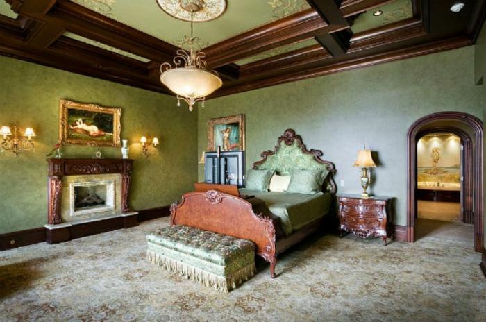 Schlafzimmer Ideen im viktorianischen Stil klassische Holzmöbel