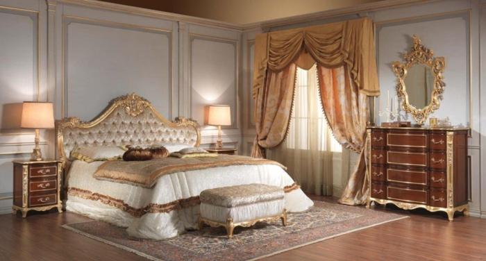 Schlafzimmer einrichten Einrichtungsbeispiele im viktorianischen Stil Schlafzimmer Gardinen