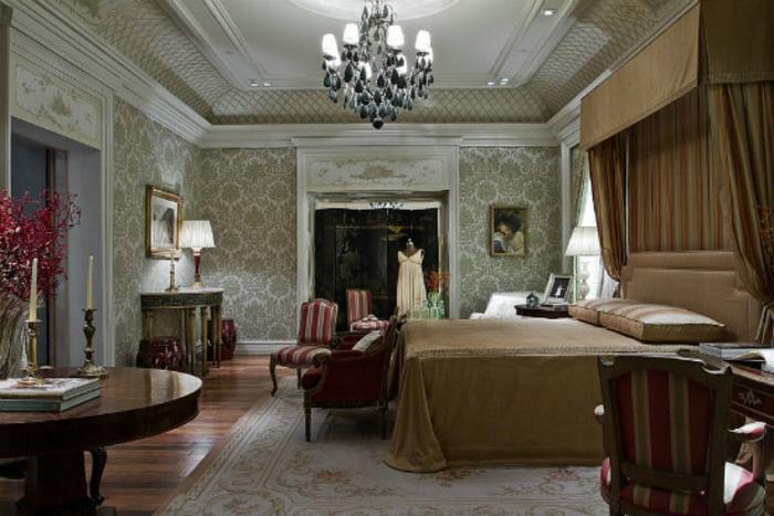 Schlafzimmer einrichten Einrichtungsbeispiele viktorianischer Stil antike Möbel Schlafzimmer