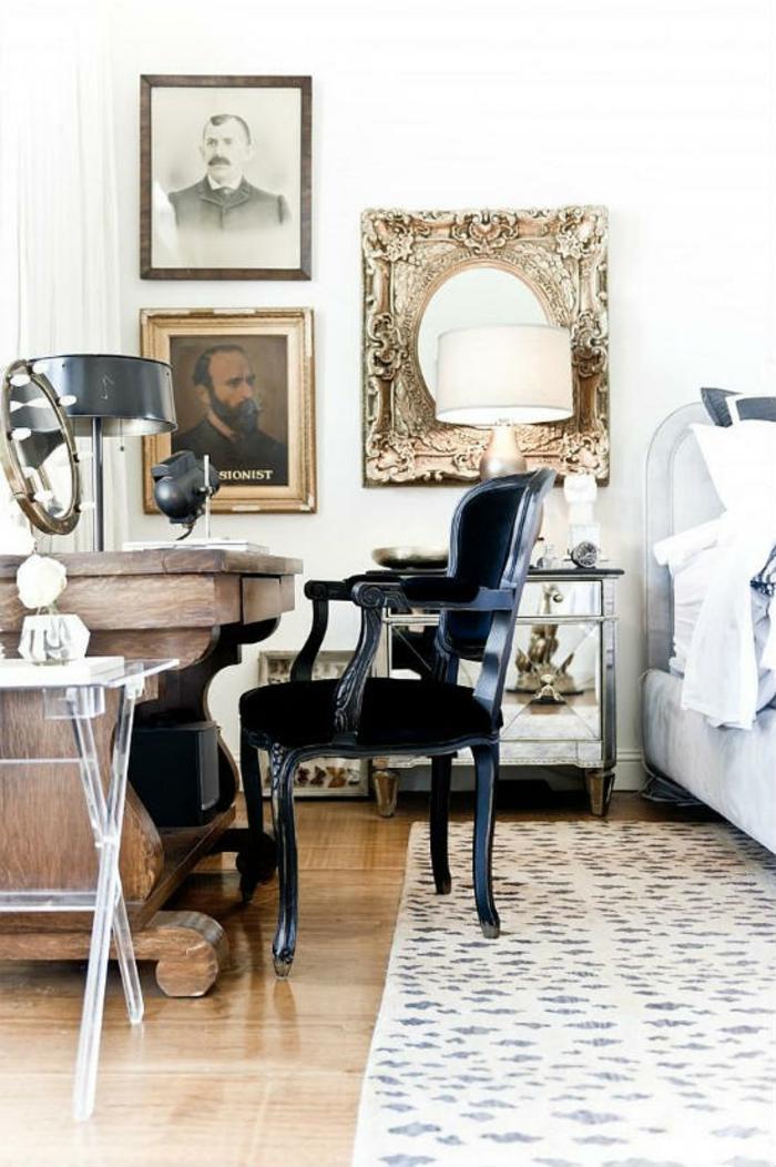 Schlafzimmer einrichten Einrichtungsideen im viktorianischen Stil antike Möbel