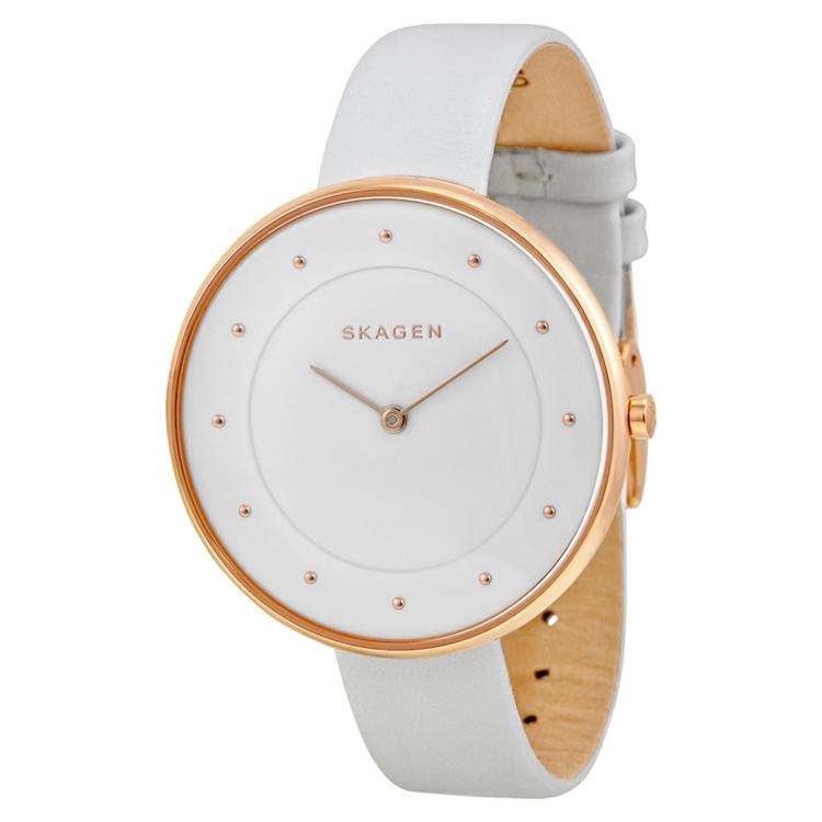 Skagen Armbanduhren Damen weiß gute Uhrenmarken