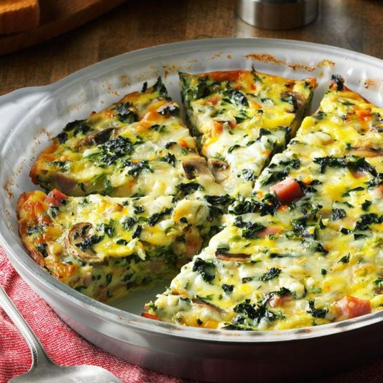 Spinat Quiche Rezept Quiche Teig mit Gemüse und Käse