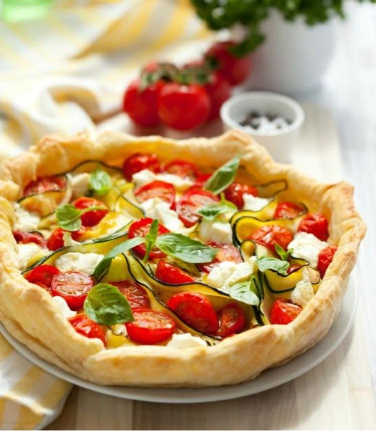Tomaten Zucchini Quiche Rezept Quiche Teig mit Gemüse