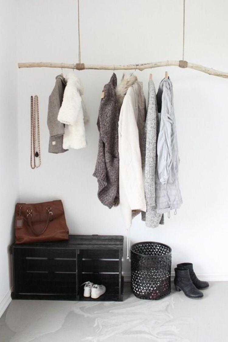 Wohnung einrichten DIY Dielenmöbel Garderobe