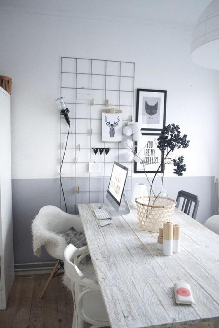 Wohnung Einrichten Esstisch Holz Skandinavische Accessoires