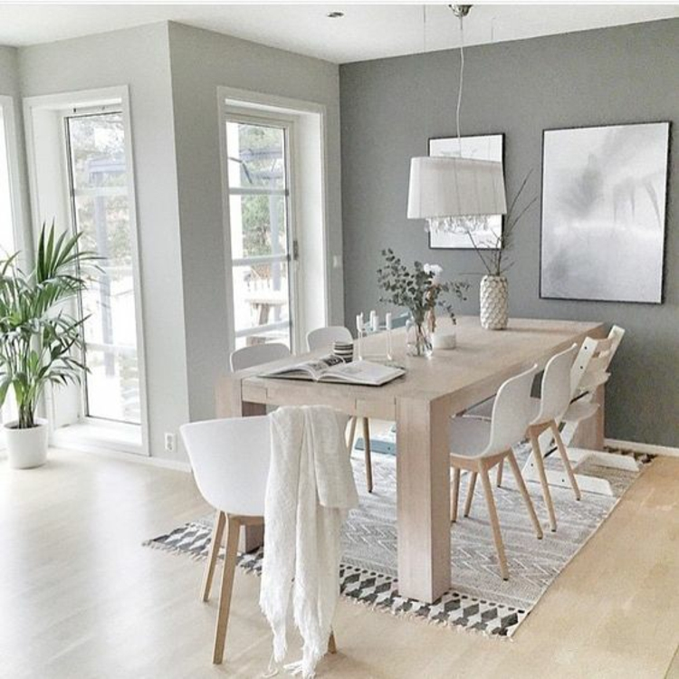 Wohnung einrichten Esszimmer Möbel Holz Esstisch Eames Chairs