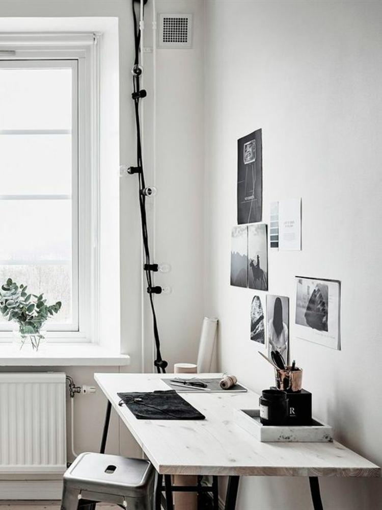 Wohnung einrichten Schreibtisch häusliches Arbeitszimmer