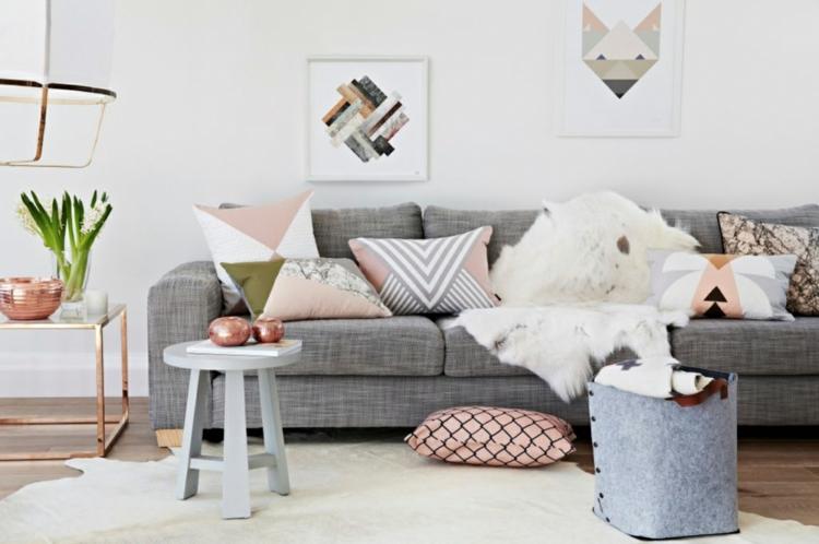 16 Rose Gold And Copper Details For Stylish Interior Decor: Wohnung Einrichten Tipps: 50 Einrichtungsideen Und