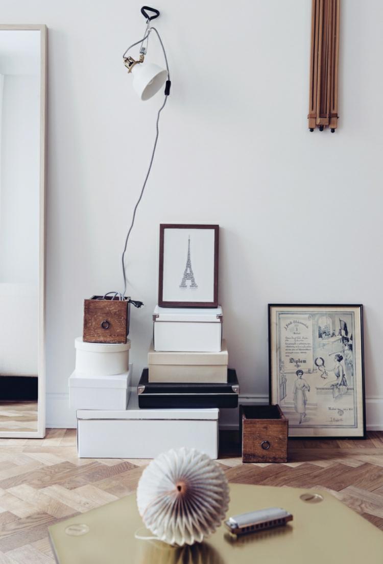 Wohnung einrichten Tipps Mietwohnung Möbel Kisten Wanddeko