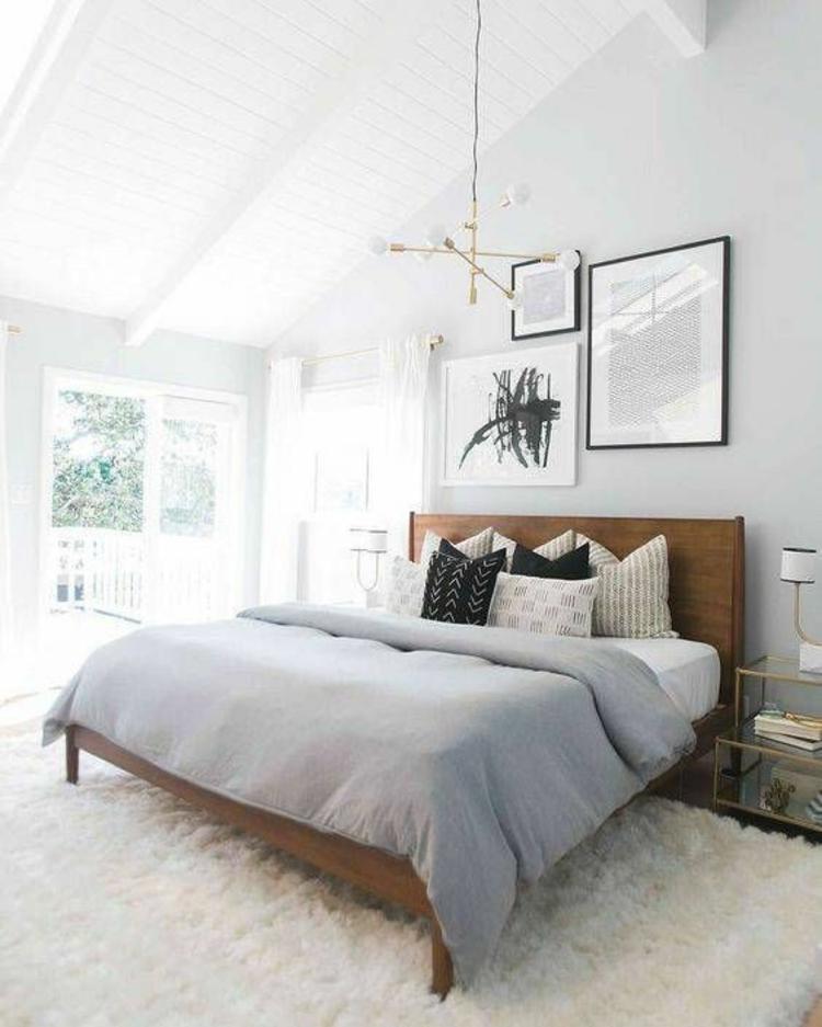 Bedroom Bed Photo Glitter Bedroom Accessories Pink Accent Wall Bedroom Bedroom Bench Decor: Wohnung Einrichten Tipps: 50 Einrichtungsideen Und