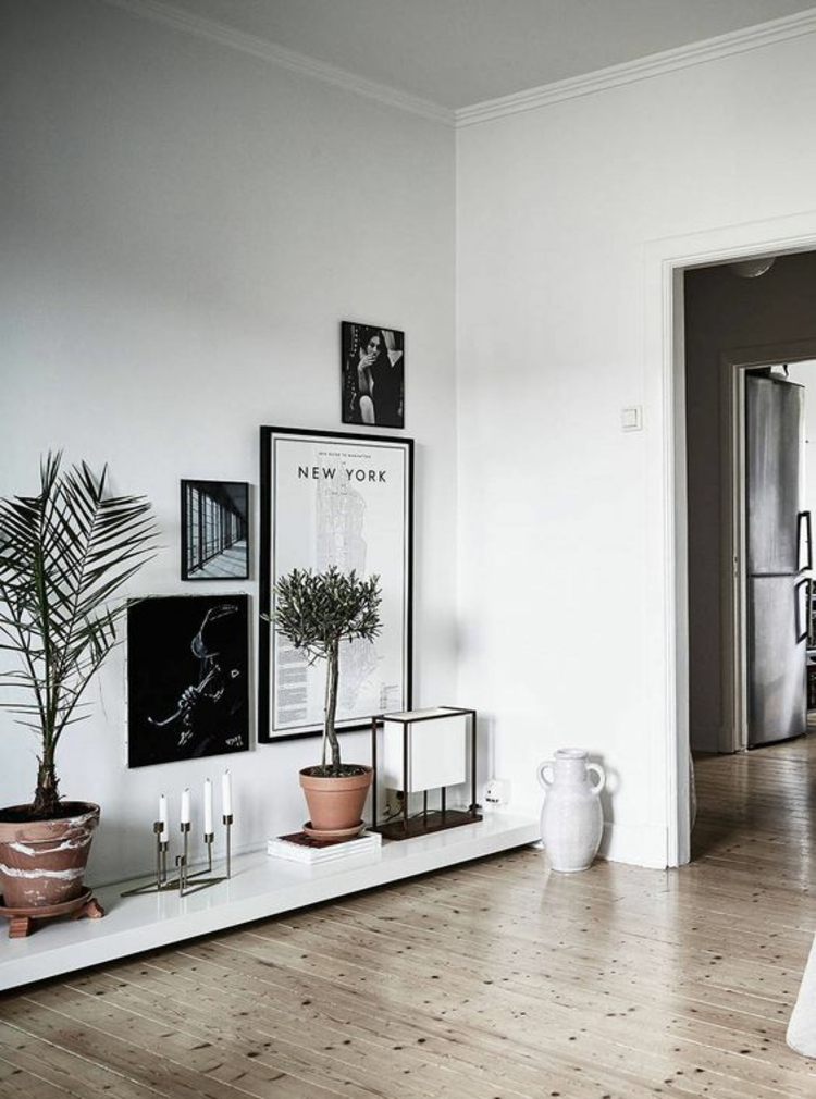 Wohnung einrichten schwarz weiß Deko Ideen