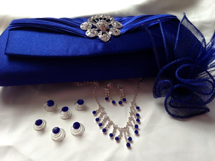 abiball prom party abendkleid clutch damentasche blau accessoires strasssteine