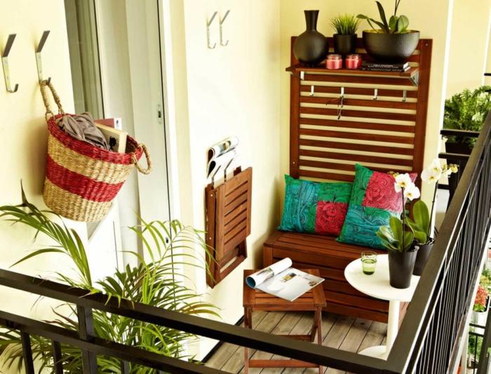 balkon ideen balkongestaltung platzsparende moebеl marokkanisch