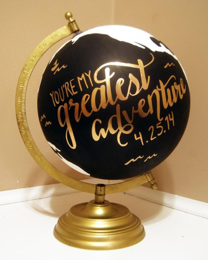 bastelideen wohndeko kreative deko globus