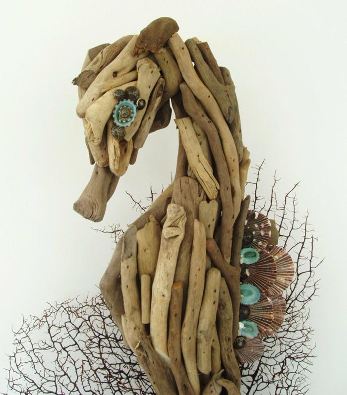 bastelideen wohndeko kreative seepferdchen tribholz1