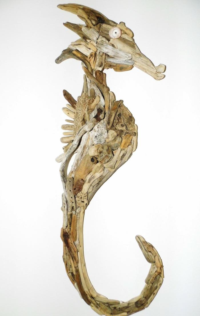 bastelideen wohndeko kreative seepferdchen tribholz2