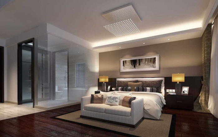 besser schlafen schlafzimmer einrichten naturmaterialien lichtinseln gedämpftes licht