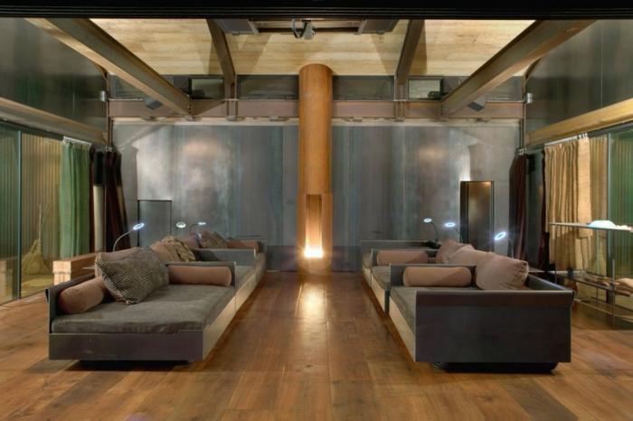 bodenbelag wohnzimmer bodenfliesen beleuchtung wohnideen