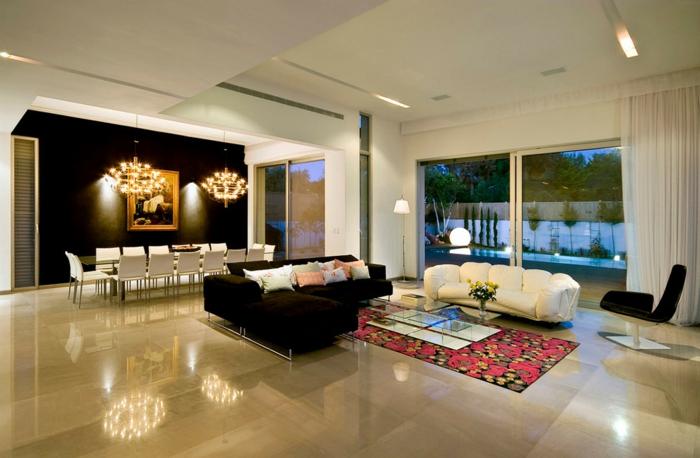 bodenbelag wohnzimmer bodenfliesen bereiche esszimmer leuchter