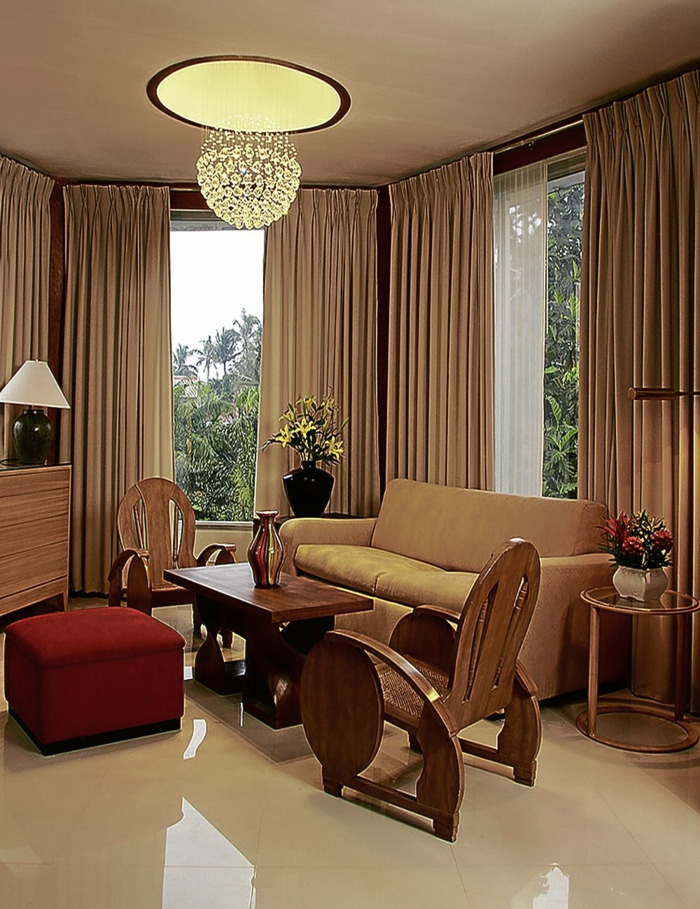 bodenbelag wohnzimmer bodenfliesen luxuriös gardinen