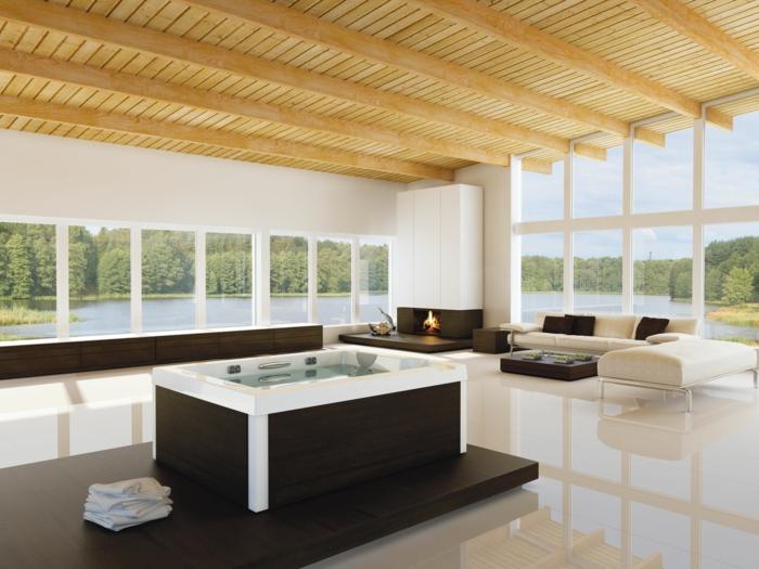 bodenbelag wohnzimmer keramische bodenfliesen feuerstelle geräumig