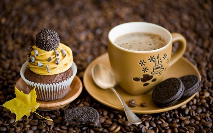 cupcake deco ideen kaffee espresso oreo muffins