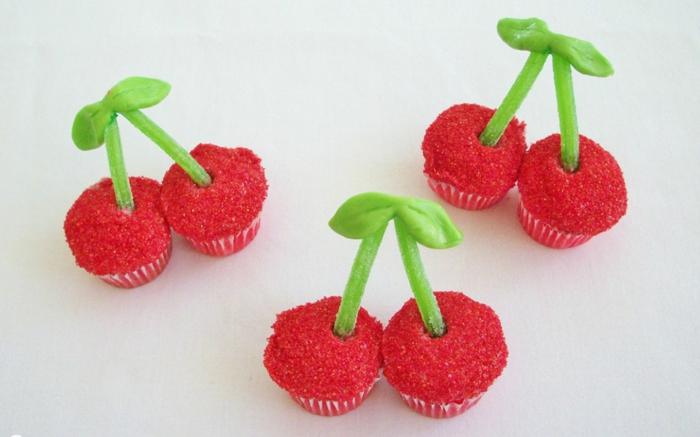 cupcake deco ideen kirschen partydeko kindergeburtstag muffins