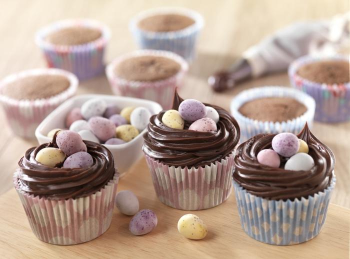 cupcake deco ideen ostereier bonbons party ideen