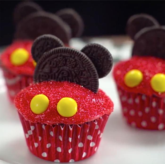 Cupcake Deko muffins oreo mickey mouse disney design