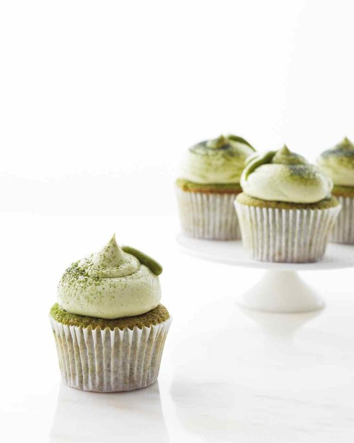 Cupcake Deko muffins sahne matcha tee