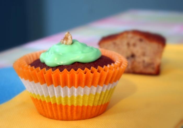 Cupcake Deko muffins selber backen shoko grüne topping