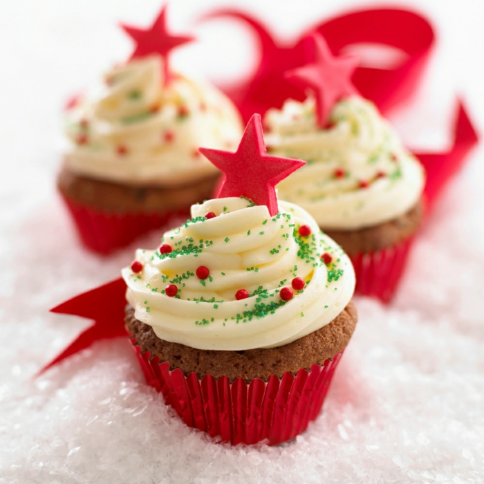 cupcake deco muffins weihnachten winterdesign cupcakes reszepte