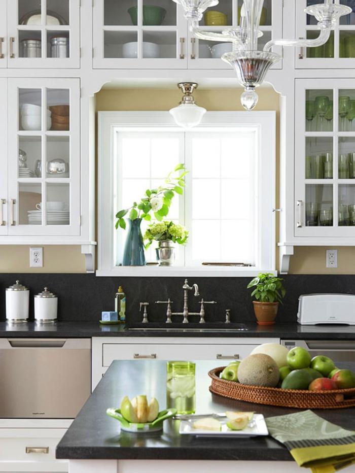 dekoideen fensterbank küche dekorieren pflanzen wohnideen