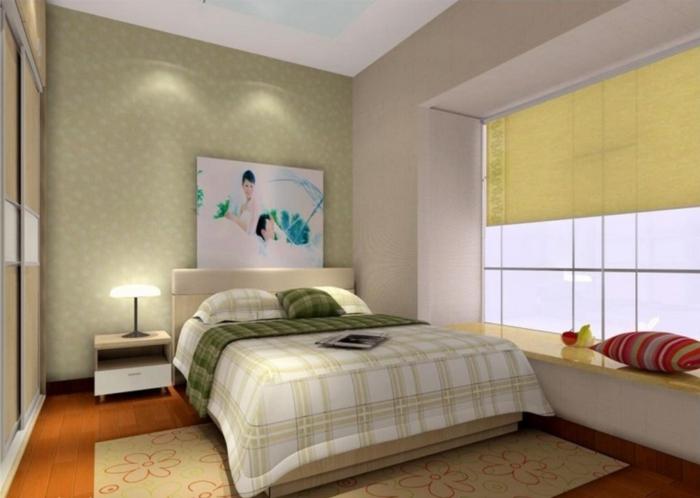 dekoideen fensterbank schlafzimmer erholungsecke teppich gemütlich