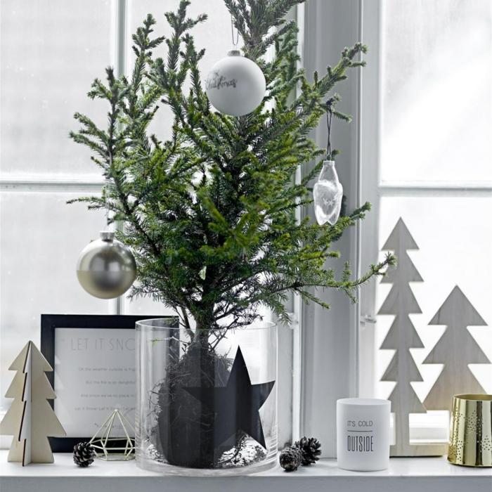 dekoideen fensterbank weihnachten festlich