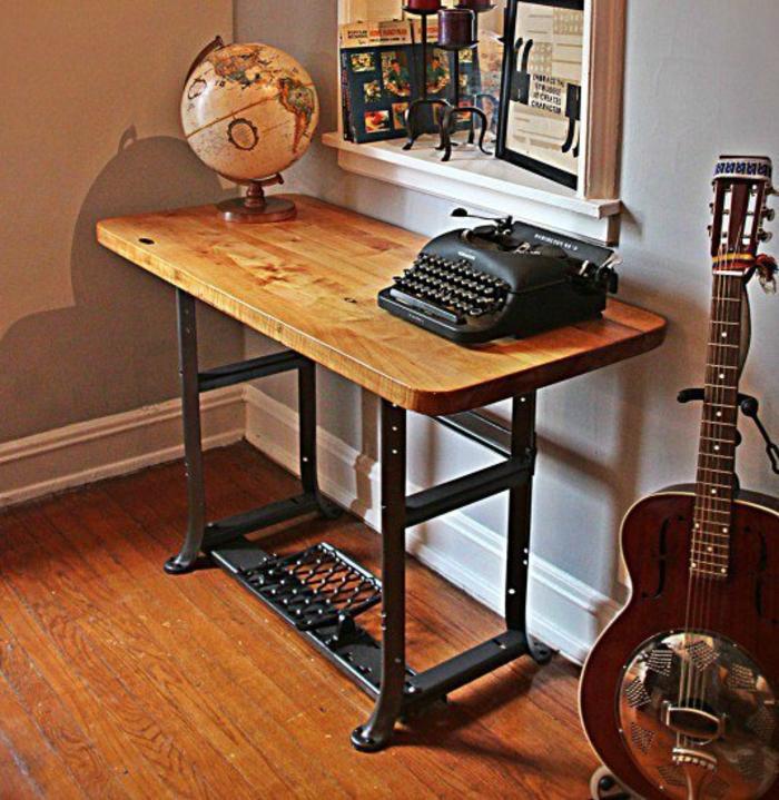 dekoideen wohnzimmer ideen raumgestaltung ideen DIY Ideen Balkon Ideen naehmaschine büro