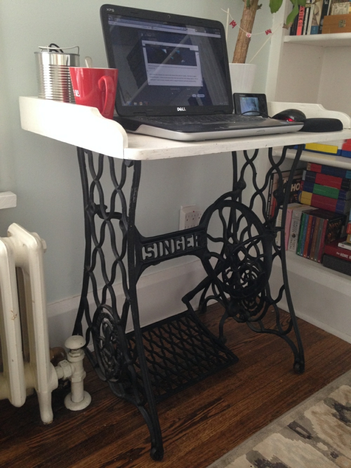dekoideen wohnzimmer ideen raumgestaltung ideen DIY Ideen Balkon Ideen naehmaschine computertisch