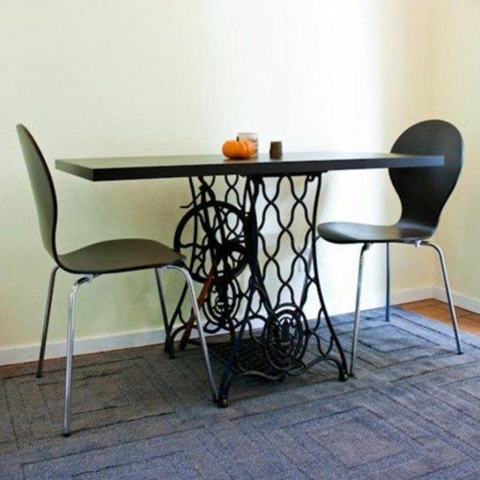 dekoideen wohnzimmer ideen raumgestaltung ideen DIY Ideen Balkon Ideen naehmaschine esstisch2
