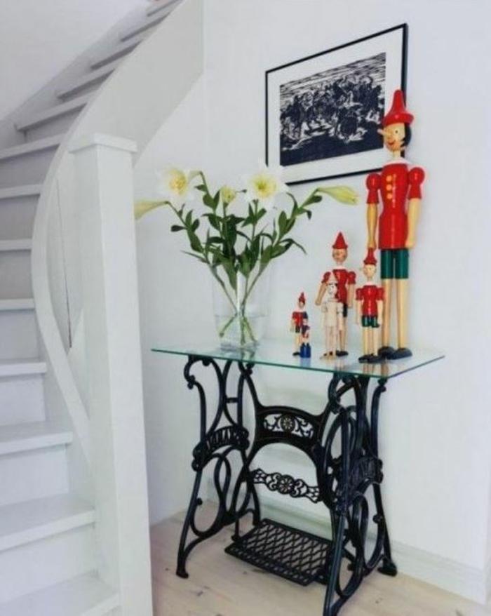 dekoideen wohnzimmer ideen raumgestaltung ideen DIY Ideen Balkon Ideen naehmaschine flur