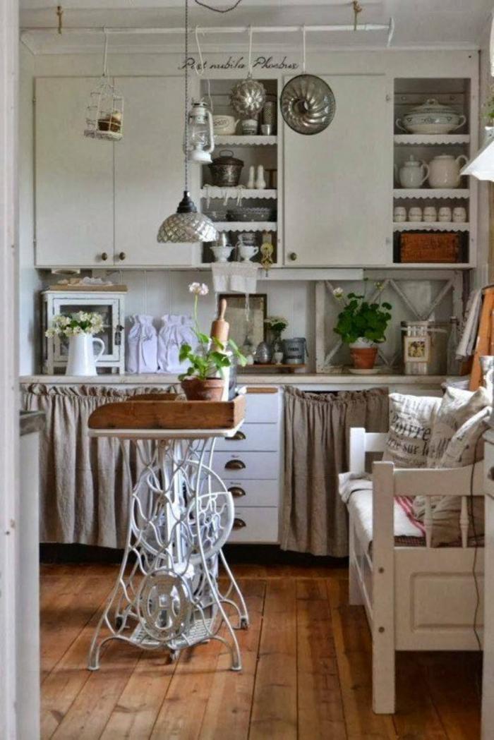 dekoideen wohnzimmer ideen raumgestaltung ideen DIY Ideen Balkon Ideen naehmaschine kueche