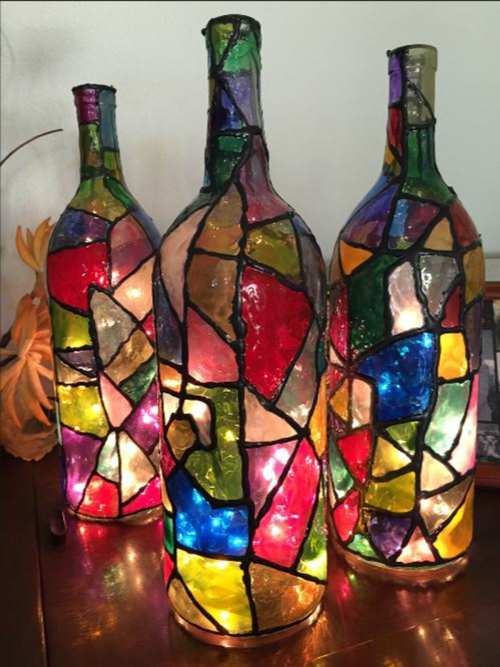 42 Dekoideen für DIY Lampen und Leuchten aus Glasflaschen | diy ...