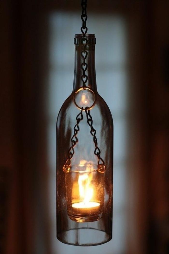 42 deko ideen f r diy lampen und leuchten aus glasflaschen for Lampen leuchten