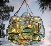 42 deko ideen f r diy lampen und leuchten aus glasflaschen. Black Bedroom Furniture Sets. Home Design Ideas
